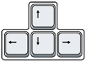 arrow buttons keyboard